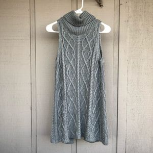 Knit Open-Back Tunic